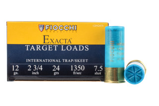 Fiocchi 12 ga international target ammunition is loaded with #7.5 shot