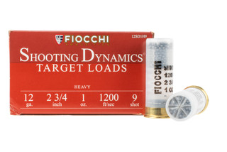 Fiocchi Shooting Dynamics 12 Gauge target loads with #9 shot