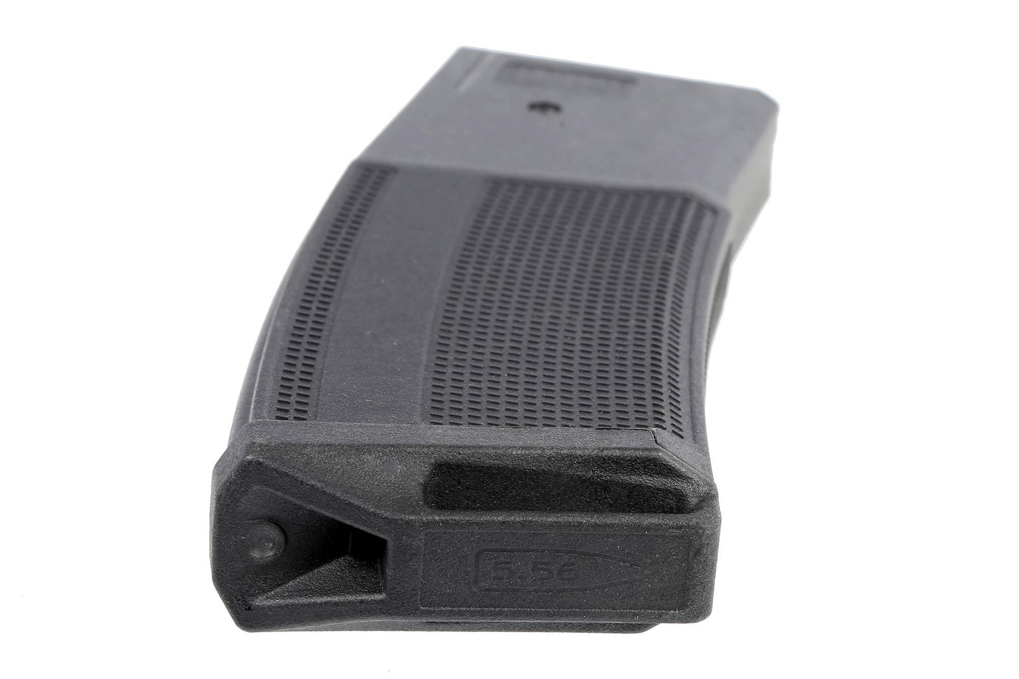 The Daniel Defense 32 round magazine features an impact absorbing baseplate