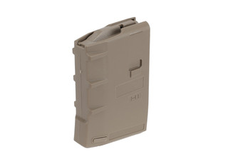 The Hera Arms H1 5.56 Magazine holds 10 rounds and is made from Tan polymer