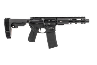 Smith and Wesson M&P15 556 pistol features a blast diverter muzzle device