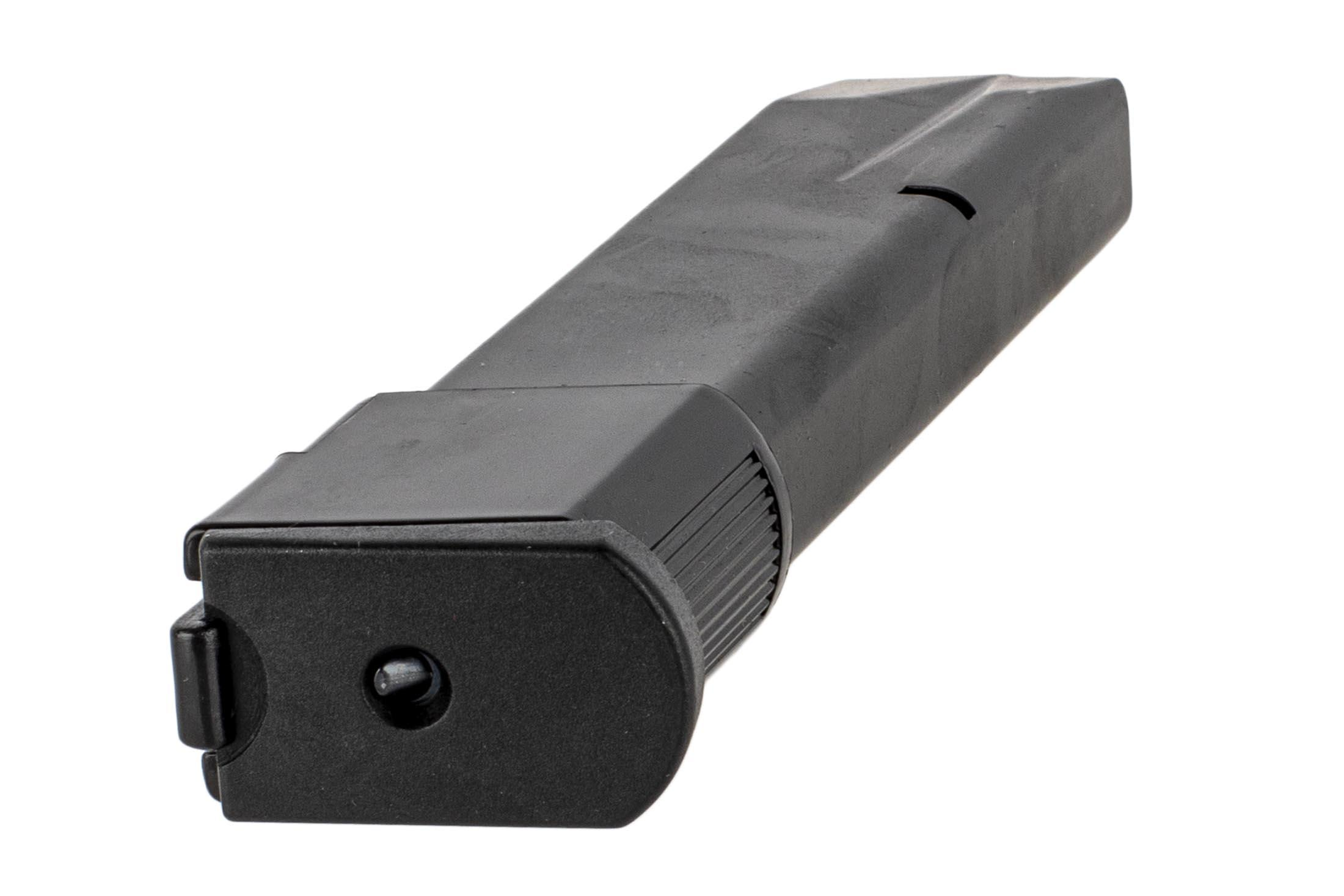 The Beretta 92FS Extended Magazine features a polymer base pad and stainless steel construction