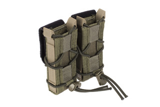 The High Speed Gear TACO Double Pistol magazine pouch features a belt mount for carrying mags at your waist instead of a carrier