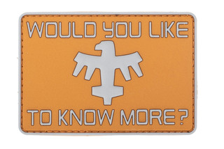 Violent Little Machine Shop Would You Like To Know More PVC Morale Patch