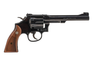 Smith and Wesson Model 17 Masterpiece 22lr revolver with 6 inch barrel