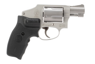 Smith & Wesson Model 642 .38 Special Revolver features a Crimson Trace lasergrip
