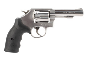 .38 Special Model 64 Revolver from Smith & Wesson has a stainless steel finish