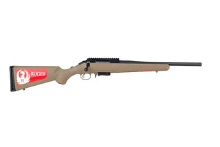 Ruger American Ranch Compact 7.62x39 bolt action rifle features a flat dark earth stock