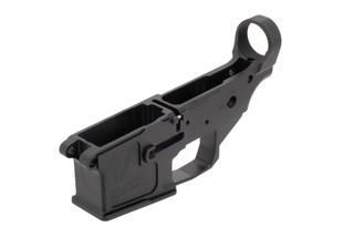 17 Design billet ar-15 lower receiver comes stripped but includes a threaded roll pin
