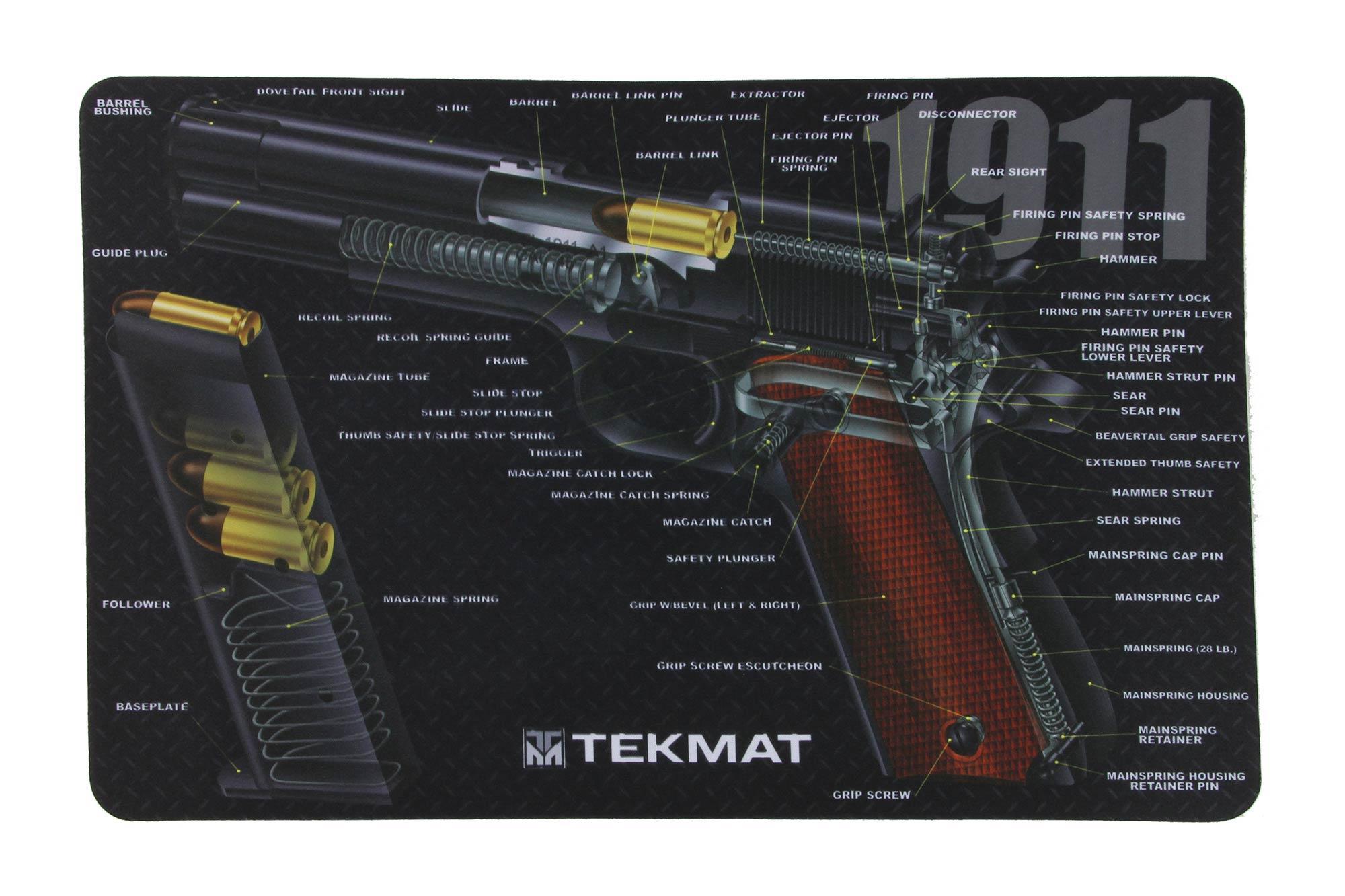 Tekmat 1911 3d Cutaway Gun Cleaning Mat 17 1911 Ca