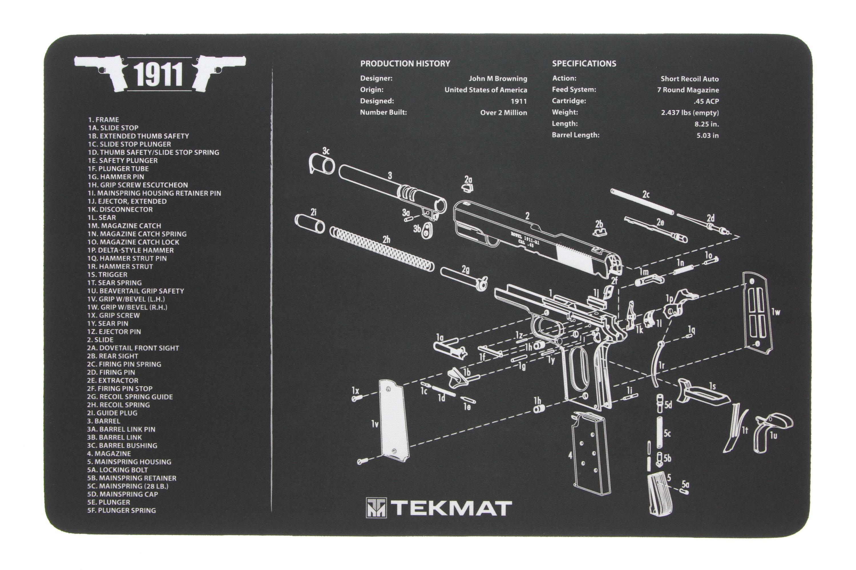 Tekmat 1911 Gun Cleaning Mat 17 1911