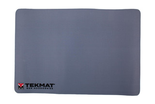 TekMat 17in grey handgun cleaning mat featuring a TekMat logo dye sublimated graphic.