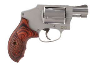 Smith and Wesson model 642 performance center revolver features an aluminum j frame