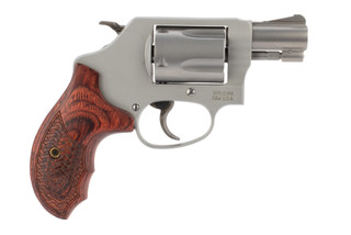 Smith and Wesson 637PC performance center revolver is chambered in 38 special