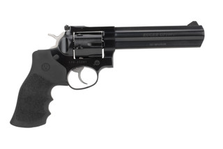 Ruger GP100 revolver features a 6 inch heavy barrel