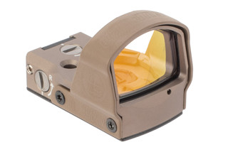 Leupold DeltaPoint Pro Reflex Sight 2.5 MOA Dot in FDE has a wide field of view window