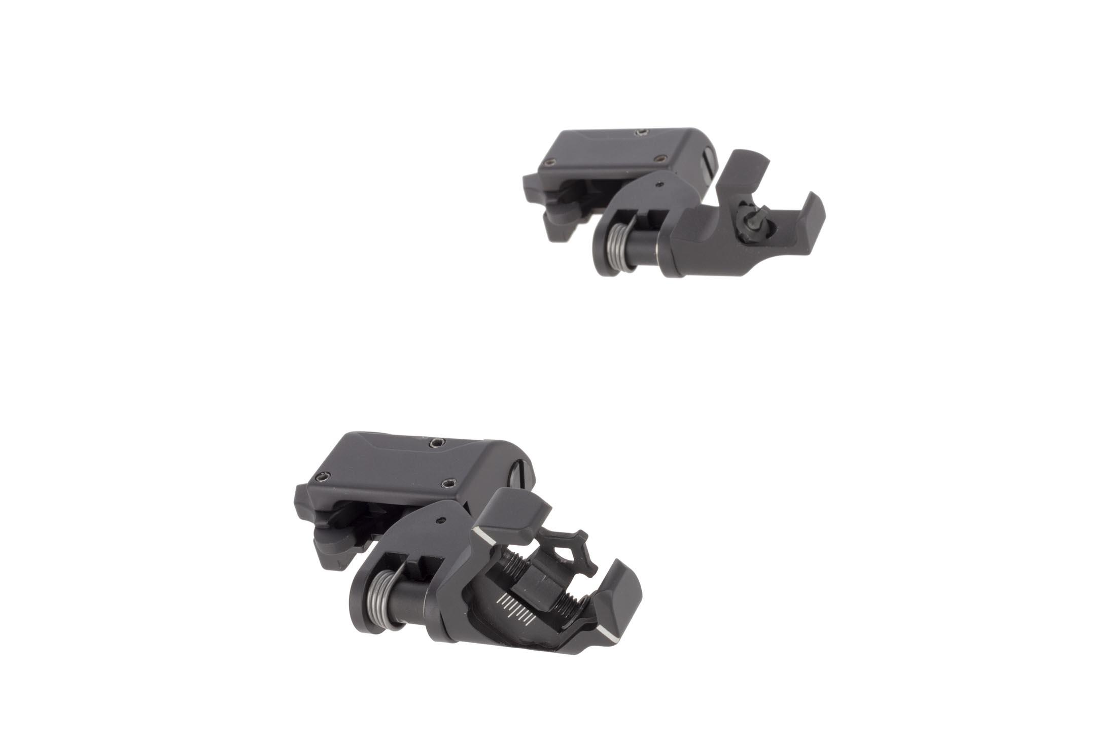 Diamondhead 45-degree offset sights allow for instant transitions from magnified optics to close quarters engagement