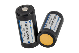 Modlite Systems Keep Power 18350 rechargeable batteries are 1200mAh 2 pack