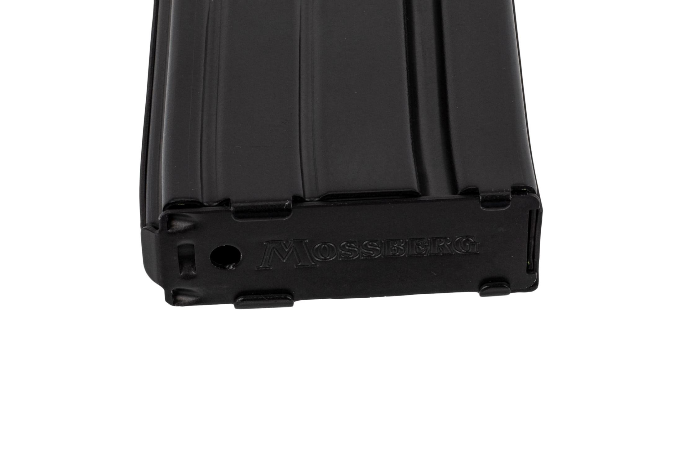 Mossberg 5.56 magazine 10 round features a stamped floor plate