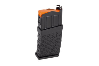 Remington polymer magazine for the Remington 870 DM series of 12 gauge shotguns holds 6 rounds.