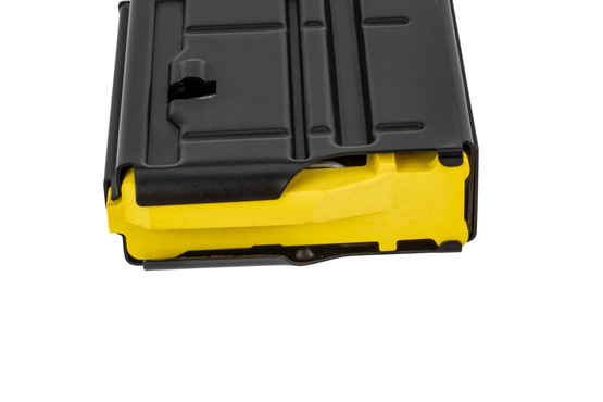Mossberg 308 5 round magazine features a bright yellow follower