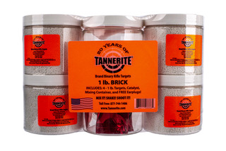 Tannerite Binary Targets come in a 4 pack of 1 pound explosive targets
