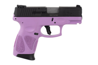 Taurus G2C 9mm pistol features a purple polymer frame
