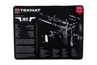 TekMat 20in premium handgun cleaning mat featuring an exploded view of the 1911 series of handguns dye sublimated graphic.