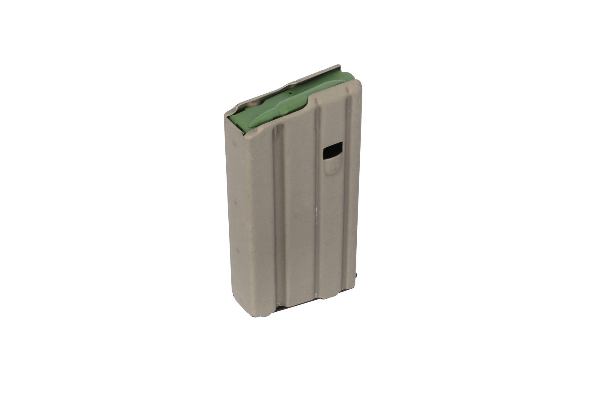 The Ammunition Storage Components straight 5.56 magazine with grey finish has a 20 round capacity