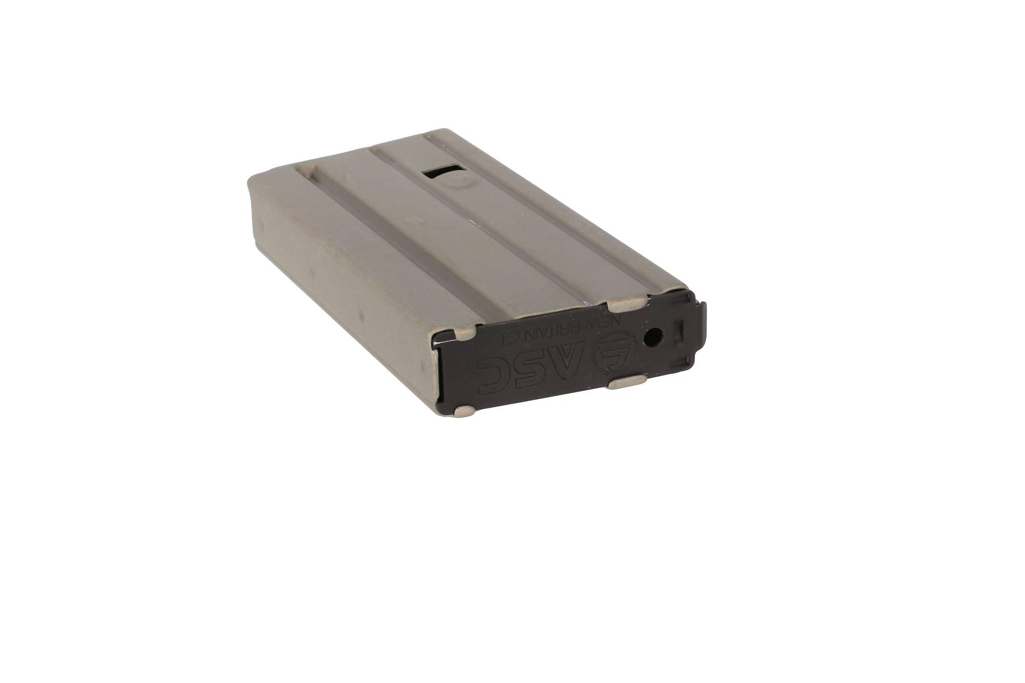 Ammunition Storage Components 20-Round Straight Aluminum Magazine - .223/5.56 - Grey with Green Follower
