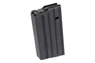 The Ammunition Storage Components .308 magazine holds 20 rounds of ammo in the stainless steel body