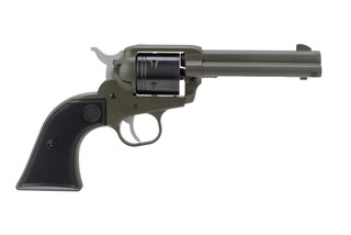 Ruger Wrangler 22lr revolver features an OD Green Cerakote finish