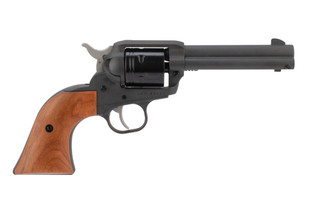 Ruger Wrangler Cowpoke 22lr revolver features wooden grips