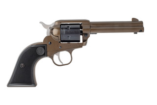 Ruger Wrangler 22lr revolver features a midnight bronze cerakote finish