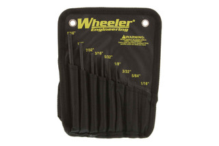 The Wheeler Engineering Roll Pin Punch Set comes with 9 different sizes