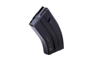 The C Products stainless steel 20 round 6.8 SPC magazine features a grey follower
