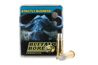 Buffalo Bore 38 Special +P features a 158 grain flat nose bullet