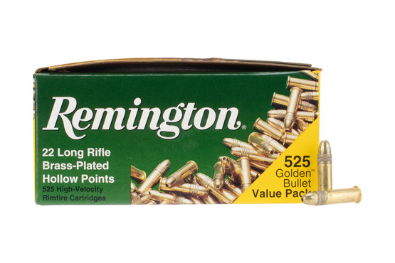 Remington 22 lr ammunition Golden Bullet features a 36 grain hollow point projectile