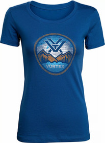 Vortex Women's Reflection Lake Short Sleeve T-Shirt in Royal Blue
