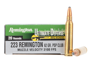 Remington 223 Pointed Soft Point Ammo features a 62 grain bullet