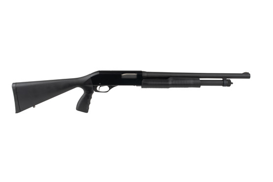 Stevens 320 Security 12 gauge pump action shotgun features an 18.5 inch barrel