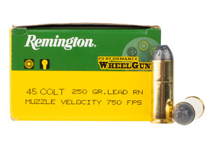 Remington 45 LC ammo features a lead round nose bullet