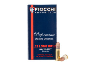 Fiocchi .22LR 38 grain Ammo features a Copper plated hollow point