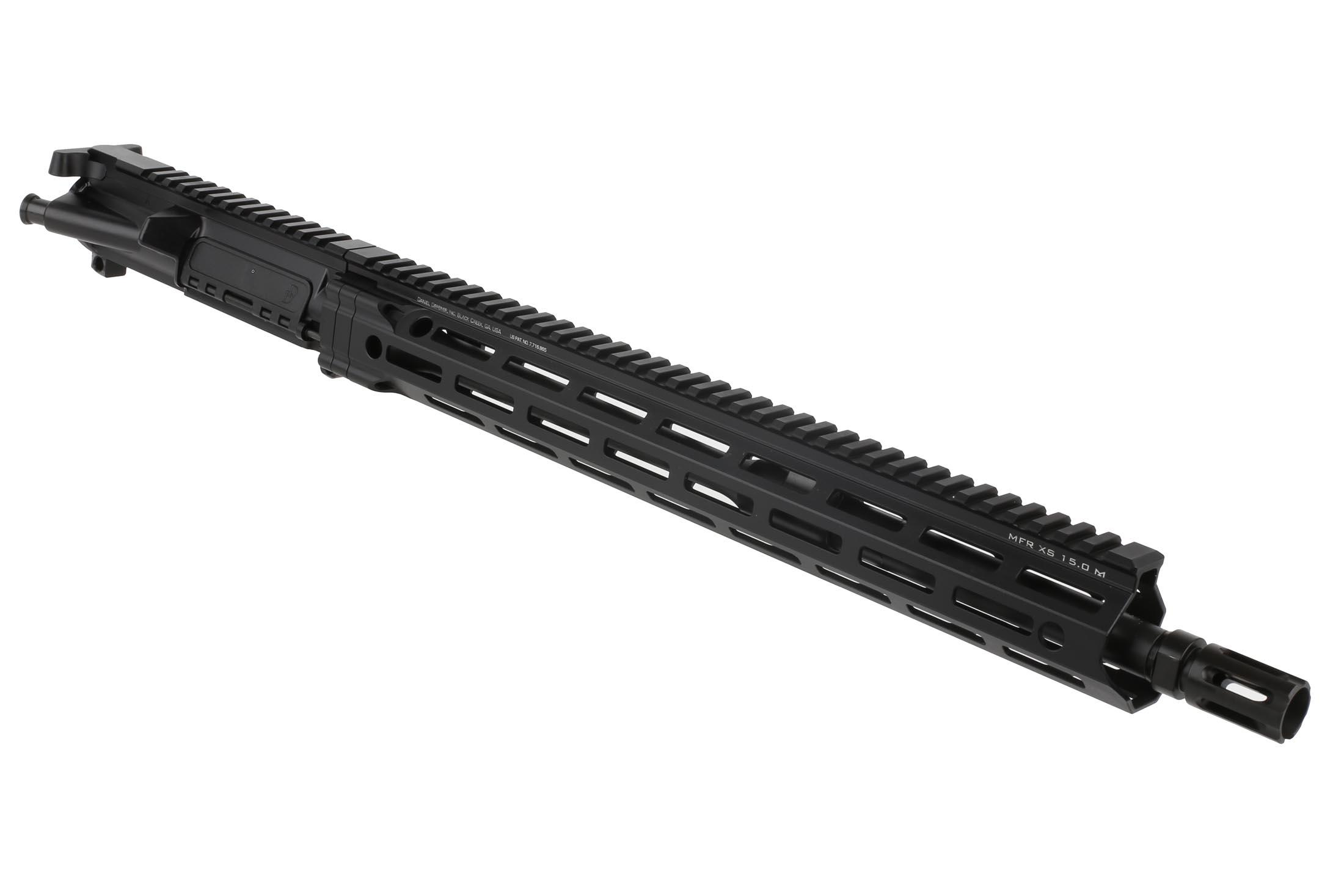 The Daniel Defense DDM4v7 Complete upper receiver features a 16 inch barrel with MFR XS M-LOK handguard