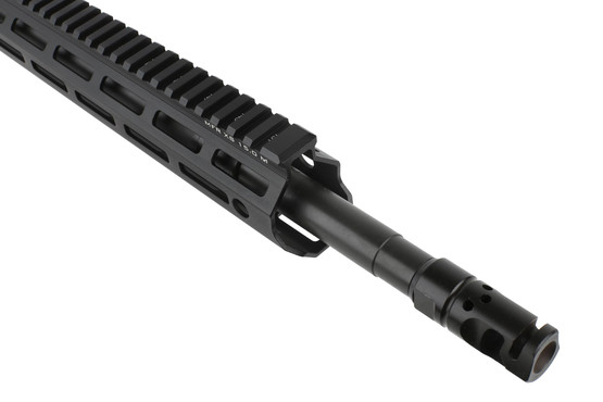 The DDM4v7 Pro upper receiver group with MFR XS M-LOK handguard covers the rifle length gas system