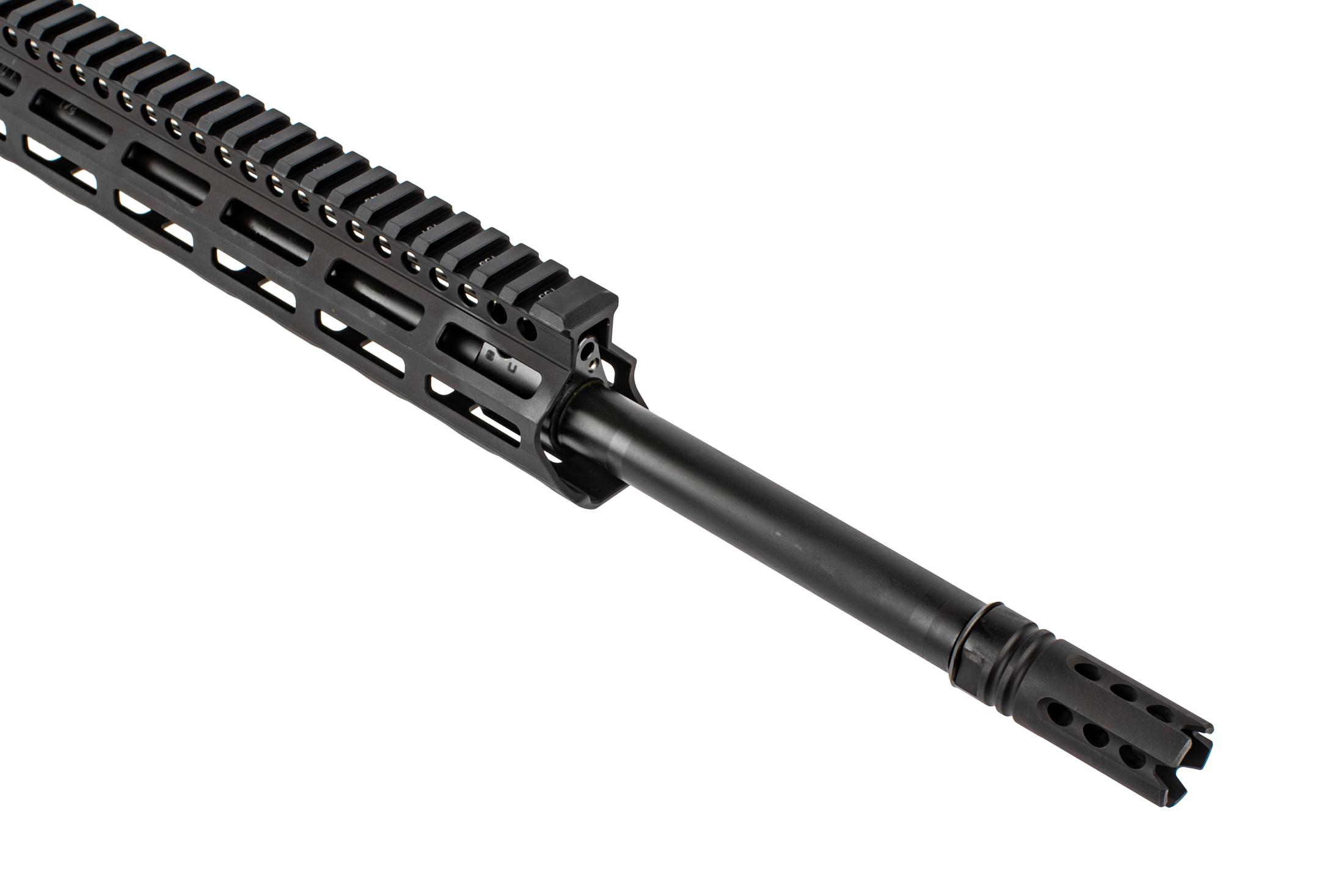 Daniel Defense complete DD5V4 upper with 20 6.5 creedmoor barrel is threaded 5/8x24 with a flash suppressor