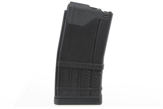 The Lancer L5AWM Magazine features a polymer body with constant curve geometry