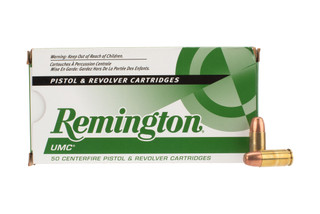 Remington UMC 9mm ammo is loaded with 147 grain fmj bullets