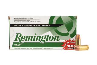 Remington UMC 9mm Hollow Point Ammo is loaded with a 115 grain bullet