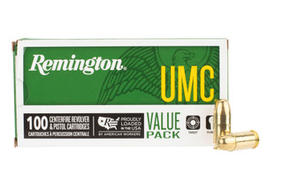 Remington UMC 45ACP ammo comes in a box of 100 rounds